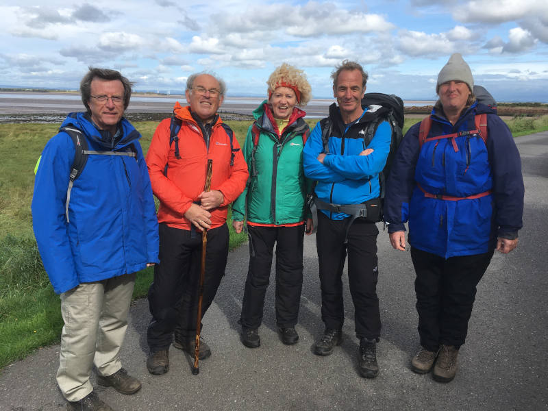 Robson Green with some of t he HWWF Committee Members
